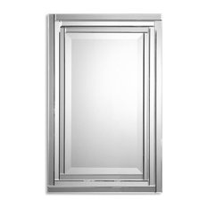 Bathroom Mirrors Polished Nickel polished nickel mirror | houzz