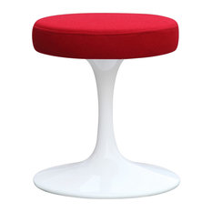 """Fine Mod Imports Flower Stool Chair 16"""", Red"""