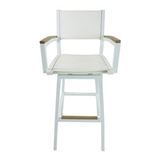 Riviera Swivel Arm Barstool, White