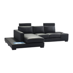 VIG Divani Casa Modern Bonded Leather Sectional Sofa With Light