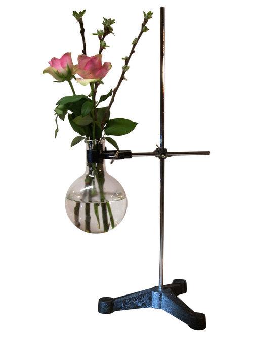 KEMIKAZE - Kemikaze Boyle Single Round Flask Vase With Stand - Vaser
