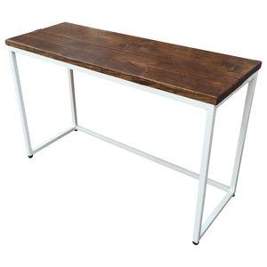 Standard Reclaimed Wood Desk, White, Large