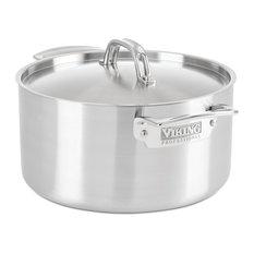 Viking Professional 5-Ply Stock Pot, Satin Finish, 6 qt.
