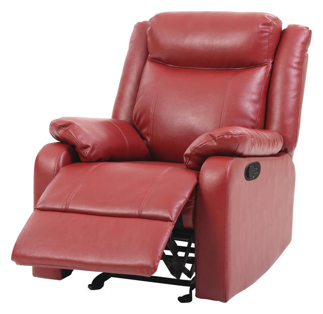 Osino Faux Leather Rocker Recliner - Contemporary - Recliner Chairs ...