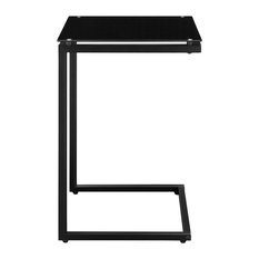 Altra Furniture   Altra Furniture Glass Top C End Table In Black   Side  Tables And