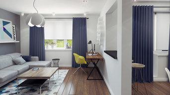 Интерьер квартиры-студии для молодого человека в г. Красногорск