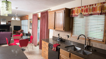 Kitchen and Family Room Window Treatments