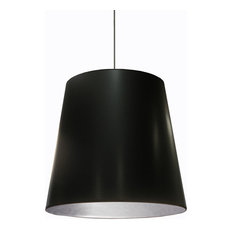 Dainolite Ltd. - Odette 1-Light Oversized Drum Pendant Black on Silver -  sc 1 st  Houzz & Silver And Black Pendant Lighting   Houzz azcodes.com