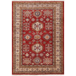 Super Kazak Hand Knotted Oriental Area Rug 5 X 7 Southwestern Area Rugs By Manhattan Rugs