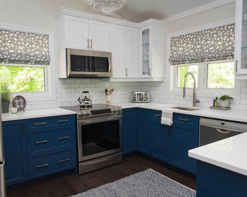 cuisine clectique avec une cr dence jaune photos et id es d co de cuisines. Black Bedroom Furniture Sets. Home Design Ideas