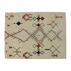 Esmaili Rugs   Moroccan Rug With Tribal Style And High Low Pile, Two Layer  Rug