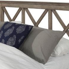 Alpine Furniture, Inc - Platform Headboard, French Truffle Finish, Queen - Headboards