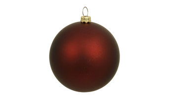 "8"" Burgundy Matte Ball Uv Drilled Cap"