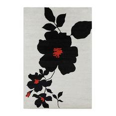 Allie Floral Contemporary Area Rug, 8'x10'