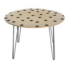 Deny Designs Garima Dhawan Vintage Dots Black Round Table Steel Legs