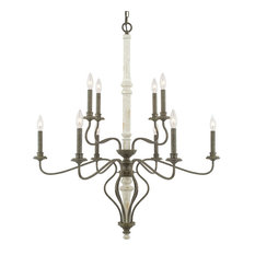 Capital Lighting Nora Collection 10 Light Chandelier, French Country