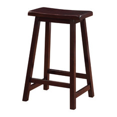 Raw - Chandler Saddle Counter Stool - Bar Stools and Counter Stools