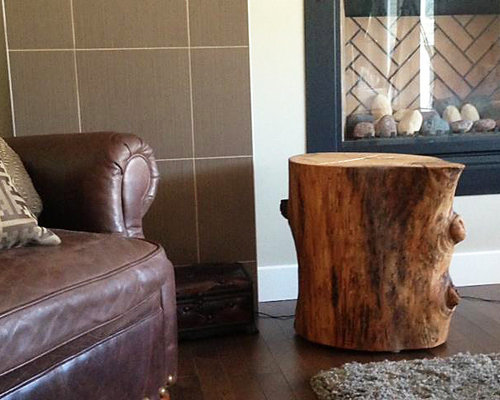 reclaimed solid wood tree stump table side tables and end tables