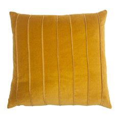 Cannes Yellow Velvet Band 12x24 Pillow