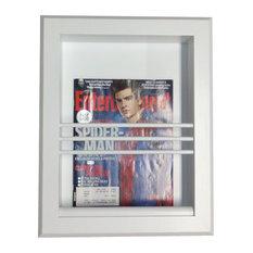 Brady Recessed In Wall Bathroom Magazine Rack, White Enamel Finish