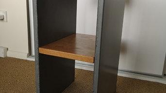 Concrete Bedside Table Set