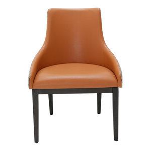 AICO 21 Cosmopolitan Side Chair, Orange, Set of 2
