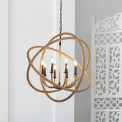 Large Rustic Rope and Iron Hanging Chandelier, Rustic, Farmhouse