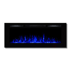 """Fusion 50"""" Built-in Ventless Heater Wall Mounted Electric Fireplace, Crystal"""