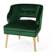 Merveilleux GDFStudio   Michaela Mid Century Velvet Accent Chair, Emerald   Armchairs  And Accent Chairs