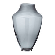 Lazy Susan Spin Cut Shadow Vase, Gray