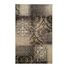 Bristol Patchwork Area Rug Collection, Beige/Brown, 8'x10'