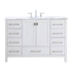Elegant Decor VF18948WH 48 Inch Single Bathroom Vanity In White