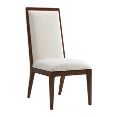 Emma Mason Signature Oak Haven Slat Back Side Chairs Ivory Set Of 2 TOM0125