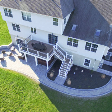 Two-Story Custom Deck with Fire Pit