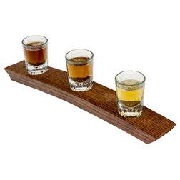 Contemporary Liquor Glasses by Barrel-Art