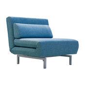 Iso Single Sleeper Swivel Chair-Bed Peacock Tweed