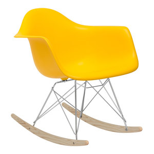 Rocker Lounge Chair, Yellow By Poly And Bark Cheap