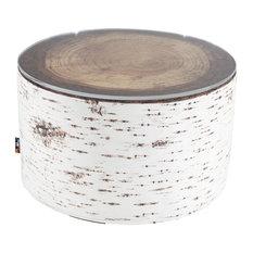 Tree Stump Heavyweight Pouffe/Coffee Table, Nordic Birch