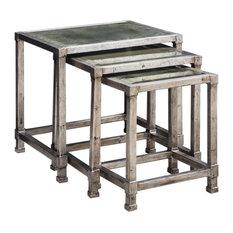 Uttermost Keanna Antiqued Silver Nesting Tables Set Of 3