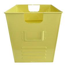 Small Oldschool Storage Bin, Soft Yellow