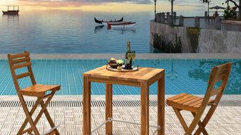 Interbuild Balcony & Garden Series, bar table with chair