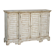 pulaski cape cod console with shutter doors weathered white buffets and sideboards