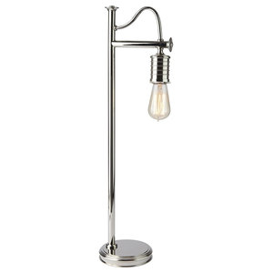 Traditional Table Lamp, Polished Nickel