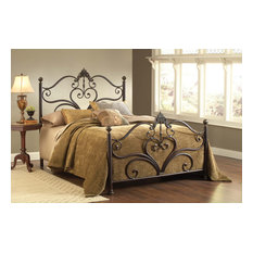 Hillsdale Newton Bed Set Queen with Rails, Antique Brown Highlight -1756BQR