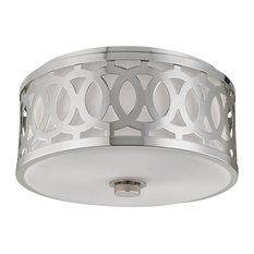 Hudson Valley Genesee 2-Light Medium Flush Mount, Polished Nickel