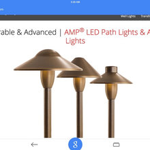 AMP LED Antique Bronze and Copper lighting systems