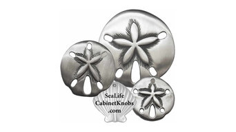 Sand Dollar Cabinet Knobs - Brushed Nickel