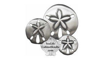 Sand Dollar Cabinet Knobs - Brushed Nickel