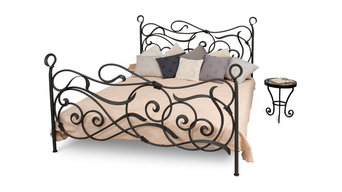 Collete wrought iron bed