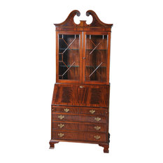 Mahogany Bookcase Secretary Desk